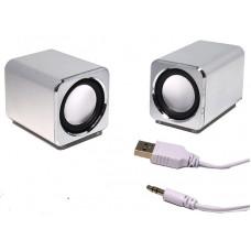 Aluminium mini computer speaker JH-MD01 powered by computer USB port